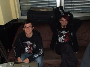 Bruder Frank (links) und Alea der Bescheidene (rechts)
