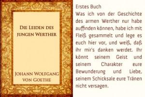 """Natürlich dürfen Goethes """"Leiden des jungen Werther"""" nicht fehlen..."""