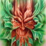 green man finished