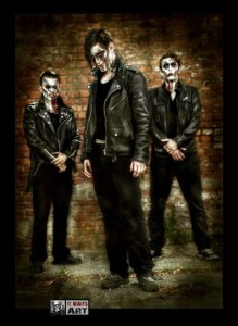 hellgreaser horrorpunk band august 2012