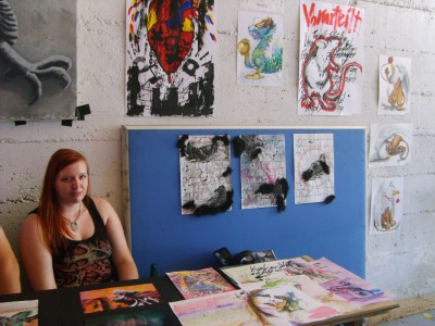 Malerin Samantha Stößer