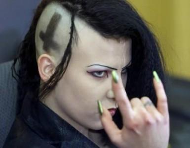 Manuela Ruda - sie und ihr Ehemann Daniel kleideten sich im Gothic-Stil und bezeichneten sich als Satanisten.