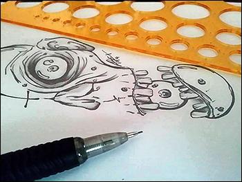 Bleistiftzeichnung Pixelbreed-Alex